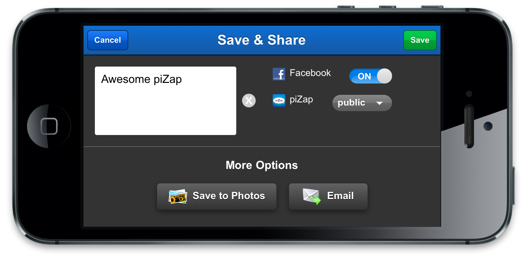 piZap save